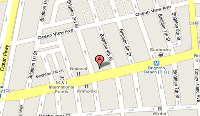 New Tours Travel 307 Brighton Beach Ave Brooklyn NY   Map