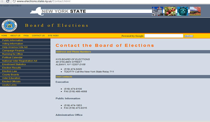 State Board of Elections 2010 web