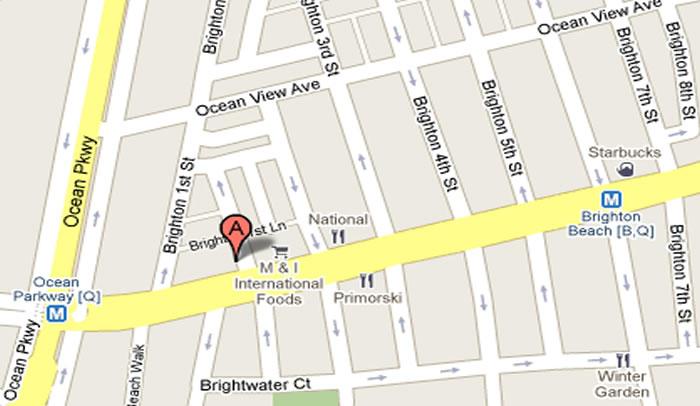 229 Brighton Beach Avenue Brooklyn NY Gitel Travel Map