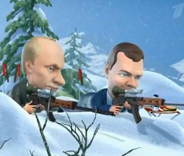 Путин и Медведев в Ванкувере