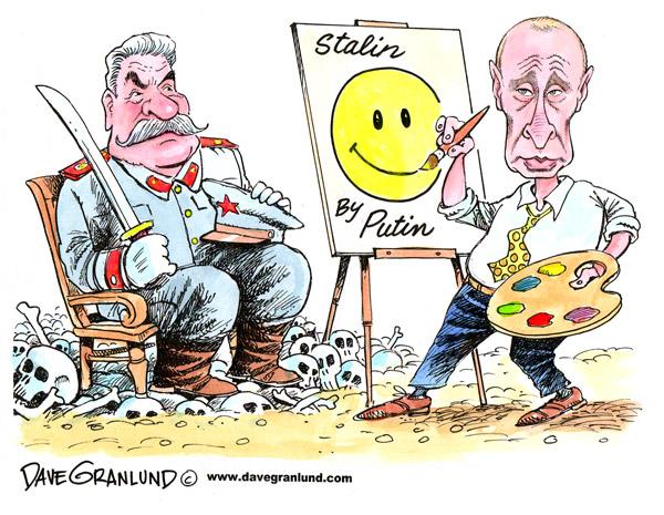 putin stalin путин сталин карикатура. Политику России воспринимают как политику Путина
