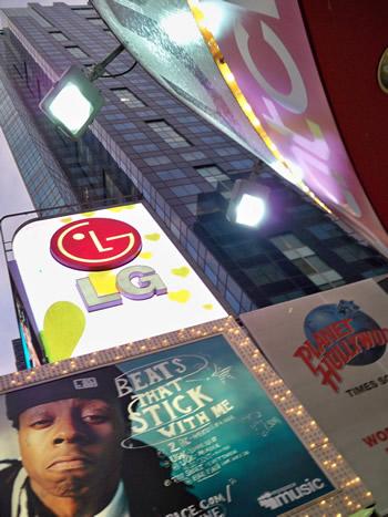 Реклама на Таймс Сквер Нью-Йорк