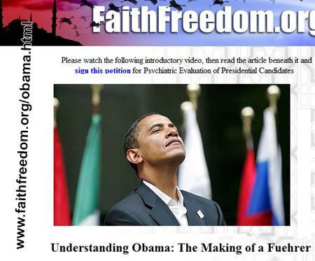 Критика Обамы организацией «Вера и свобода» США