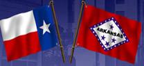 Texarkana flags Texas and Arizona