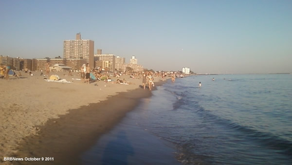 Brighton Beach Ocean October 9 2011 Brooklyn New York Beach