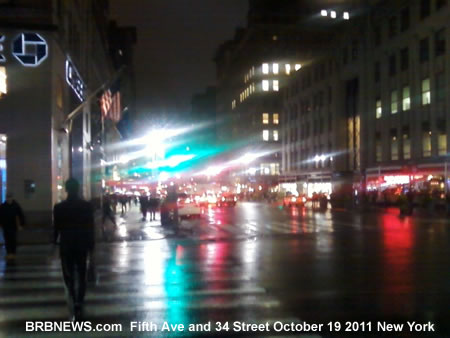 Fifth Ave and 34 Street October 19 2011 New York