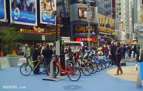 Velo bikes Times Square