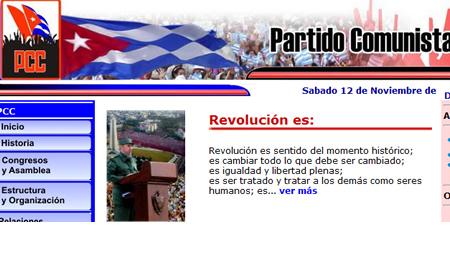 Сайт Кубинской Компартии pcc.cu