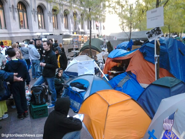 Occupy Wall Street New York camp November 18 2011