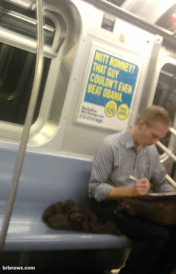 Mit Romney couldn't even beat Obama. Subway New York