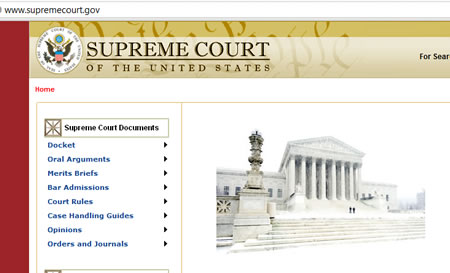 Supreme Court USA website