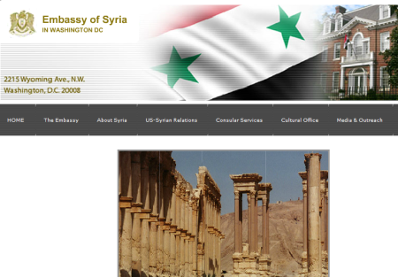 Embassy of Syria in USA. Website