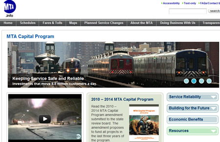 MTA website Russian New York News