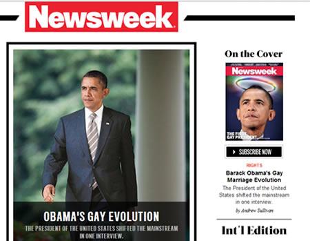 USA Gay Revolution Obama NewsWeek
