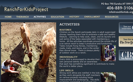 ranch for kids.org website usa