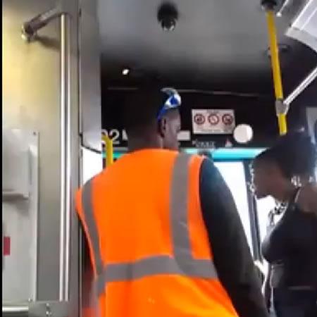 Вот из моего автобуса, сказал водитель пееред тем как ударить пассажирку