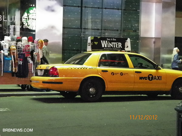 New York After Sandy Taxi Manhattan 2012