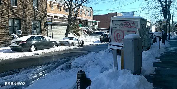 Нью-Йорк после снежного шторма 9 февраля 2013 Бруклин снег