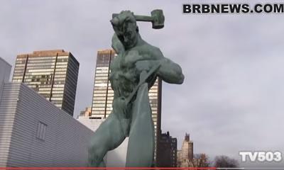 Нью-Йорк. Перекуем мечи на орала Вучетич Гуревич