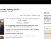 Russian Poetry Club New York news 11-28-2015