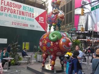 Нью-Йорк. Животные из сказки на Бродвее. Не русская а тайванская сказка