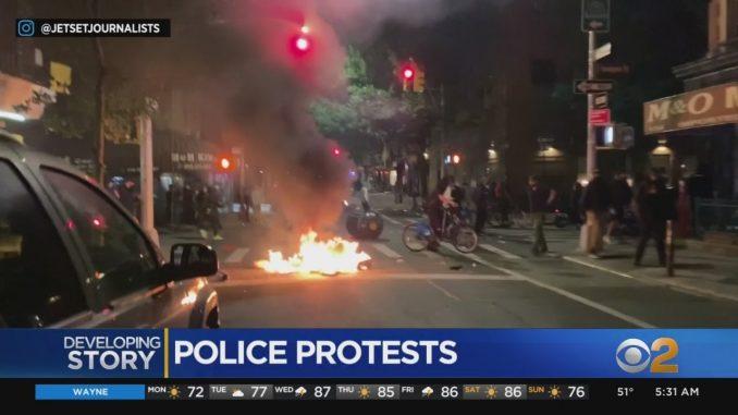 В ночь обострились протесты, по поводу гибели Джорджа Флойда и ...